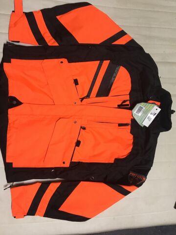 мотокуртка Fly Racing Patrol, чёрно-оранжевая, S