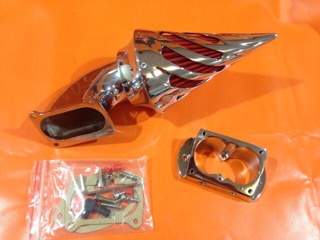 фильтр воздушный Kawasaki Vulcan 1500/1600, Спайк, хромированный, TCMT