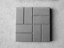 Тротуарная плитка Сетка редкая (8 кирпичей) серая