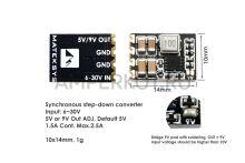 Matek Micro BEC 6-30V to 5V/9V, 3pcs/Unit mbec6S