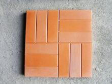 Тротуарная плитка Сетка крупная (12 кирпичей) цветная