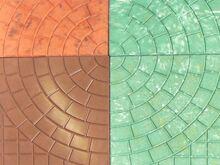 Тротуарная плитка Колодец цветной