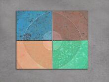 Тротуарная плитка Кольцо цветное