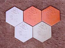 Стеновая плитка Соты Роза