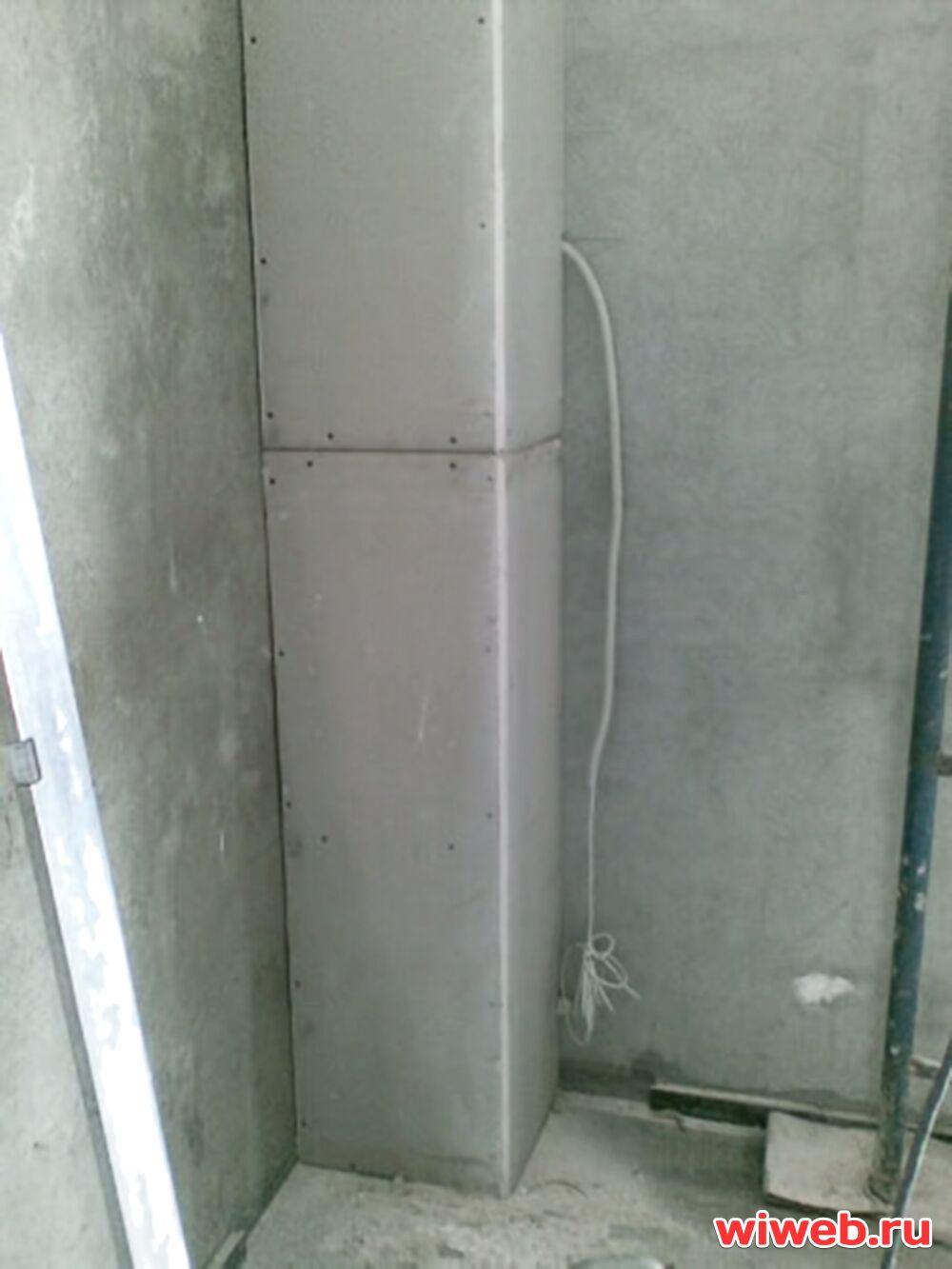 Короба из гипсокартона в туалете своими руками