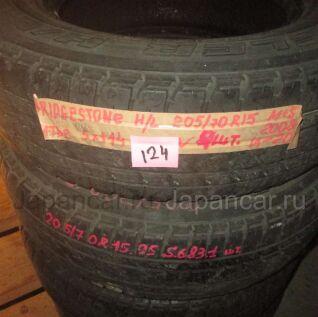 Всесезонные шины Bridgestone Dueler h/t 205/70 15 дюймов б/у в Новосибирске