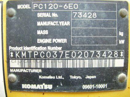 Экскаватор KOMATSU PC120-6E0 2006 года в Японии