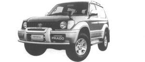 Toyota Land Cruiser Prado RZ V6 3400 GASOLINE 1998 г.