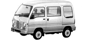Subaru Sambar VAN HIGH ROOF SDX CLASSIC 1998 г.
