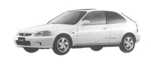 Honda Civic 3DOOR SiR 1998 г.