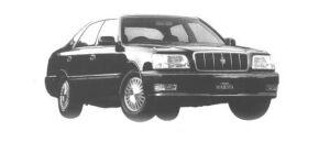 Toyota Crown Majesta C GPS VOICE NAVIGATION EMV 1998 г.