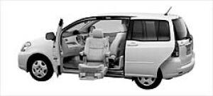 Toyota Raum Welcab Lift-upCar (Panorama type) A type 2003 г.