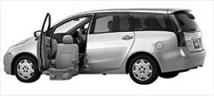 Mitsubishi Grandis With Moving Passenger Seat 2003 г.