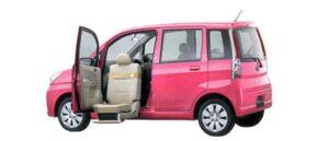 Subaru Stella Trans Care Wing Seat Lift Type 2007 г.