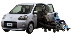 Toyota Porte Welcab, Side Access Vehicle (Detachable Seat + Exclusive Wheelchair type) 2014 г.