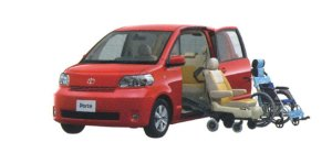 Toyota Porte Welcab, Side Access Car (Detachable Seat+Wheelchair Specification) 2006 г.