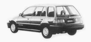Honda Civic Shuttle 55X EXTRA 1993 г.