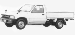 Toyota Hilux LONG BODY, SUPER SINGLE, JUST LOW DELUXE 1993 г.