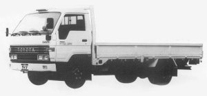 Toyota Dyna WIDE CAB, FULL J/L, LONG DECK 2t DIESEL 1993 г.