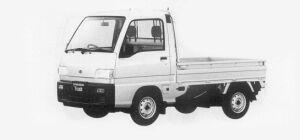 Subaru Sambar Truck STANDARD ROOF SDX SUPER CHARGER 1993 г.