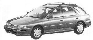 Subaru Impreza 4WD SPORT WAGON 1.8L HX 1992 г.