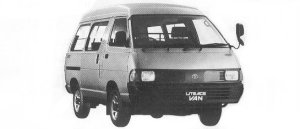 Toyota Liteace VAN 4WD HIGH ROOF 2000 DIESEL 5DOOR 1992 г.