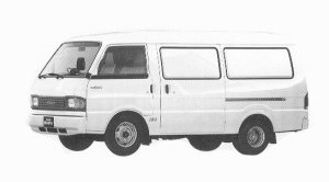 Mazda Bongo BRAWNY VAN WIDE LOW BODY 3000DE DX 1992 г.