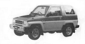 Daihatsu Rocky SX 1992 г.