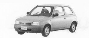 Nissan March 3DOOR HATCH BACK I-Z 1992 г.