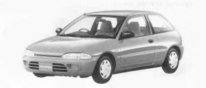 Mitsubishi Mirage 3DOOR F 1992 г.