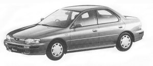 Subaru Impreza HARD TOP SEDAN 1.5L CX 1992 г.