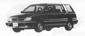 Mitsubishi Chariot 2000 4WD MT 1990 г.