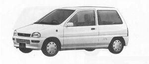 Subaru REX 3DOOR SEDAN FARIA 1990 г.