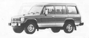Mitsubishi Pajero ESTATE WAGON 2500 DIESEL TURBO XL 1990 г.
