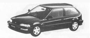 Honda Civic 3DOOR SiR II 1990 г.