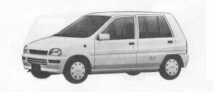 Subaru REX 5DOOR SEDAN FARIAII ECVT 1990 г.