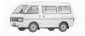 Mazda Bongo VAN HIGH ROOF 1500 GASOLINE 5DOOR LG 1990 г.
