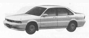 Mitsubishi Eterna SAVA 1.8 DIESEL TURBO LX 1990 г.