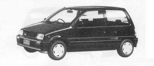 Daihatsu Mira 3DOOR J-4WD TYPE P 1990 г.
