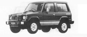 Mitsubishi Pajero METAL TOP WAGON 2500 DIESEL TURBO JX 1990 г.