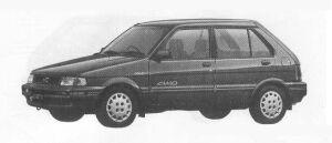 Subaru Justy 4WD 5DOOR MYME 1990 г.