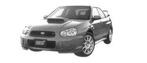 Subaru Impreza Sedan WRX STi 2004 г.