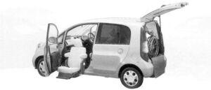 Honda Life F FF Lift-up Passenger Seat Version 2004 г.