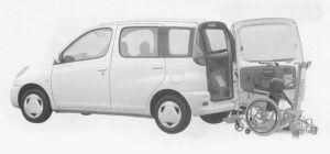 Toyota Funcargo WELCAB WHEELCHAIR SPECIFICATION 1999 г.
