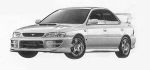 Subaru Impreza PURE SPORTS SEDAN WRX STi Version VI 1999 г.