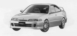 Honda Integra 4DOOR HARD TOP TYPE R 1999 г.