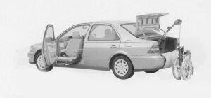 Toyota Vista WELCAB, PASSENGER SEAT LIFT-UP, B-TYPE 1999 г.