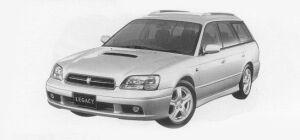 Subaru Legacy TOURING WAGON GT-VDC 1999 г.