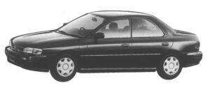 Subaru Impreza 4 door HardTop Sedan 1.5L CX 1995 г.