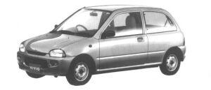 Subaru Vivio 3 door Sedan el 1995 г.
